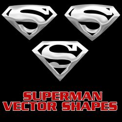 Superman Vector Shapes by Retoucher07030