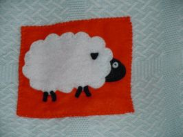 Sheep by VickitoriaEmbroidery