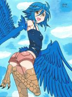 Papi the harpy (Monster Musume) by Allissei