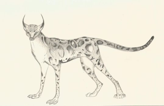 Clouded Serval cat...Thing by MoodDragon
