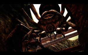 The Legend Of Zelda Spider Hunting Down Link by shadow759