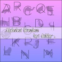 Alphabet brushes by Johhy