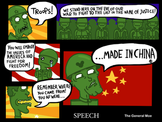 Mean Green Army Guys: Speech by The-General-Moe