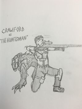 Crawford as 'The Huntsman' UNCOLORED by KigenKitsuneOokami