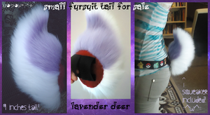 (sold) lavender deer/rabbit/goat tail by stayria