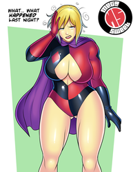 Harley-ized Power Girl by MegaSweet