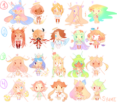 Fantasy Chibi Adopt Remix (3 LEFT) by Syumi