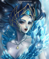 Frost Queen Janna by Yuis-Drawing