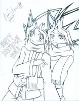 Happy 4 June Yugi by Hibari2009