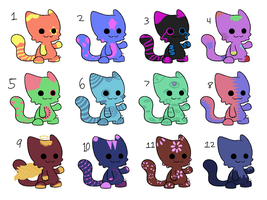 Adopts (CLOSED) (12/12 taken) by Aaaadopts