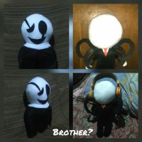 W.D. Gaster and Slenderman Plush by Puffylover1