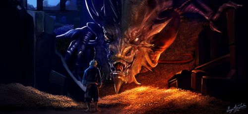 SMAUG The Dragon from THE HOBBIT by GingerAnneLondon