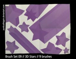 Brush Set 09 - 3D Stars by punksafetypin