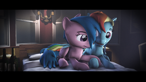 Dashi and Firefly [SFM PONY] : DASH ACADEMY by Lux-The-Pegasus