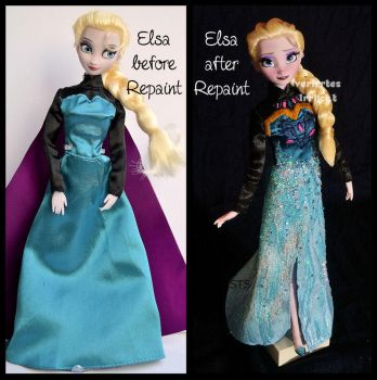 repainted ooak tranformation elsa. by verirrtesIrrlicht