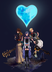 Terra, Aqua y Ventus by Kingcrownlight