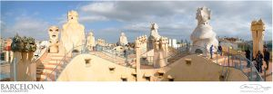 Barcelona - Casa Mila Rooftops by gdphotography