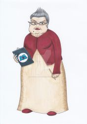 Roz - Monsters Inc Fanart - Human by blacksummercolouring on