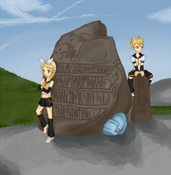 Rin and Len in Denmark :D by ElaineMathers