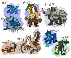 monster pack 7 by ObsidianWolf7