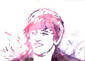 Ringo by watercolors by Sarah-Sky