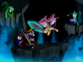 Duel In The Mana Well ~ Commission by PonyEcho