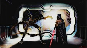 Alien vs. Vader by Darth-Pravius