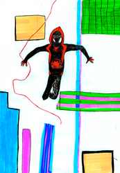 Inktober 2018_ Day 6: Miles Morales by sezzac155