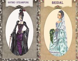 Commission: Cybelle's costume designs by InkyRose
