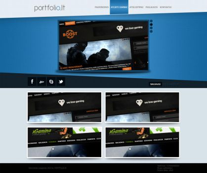 Simple portfolio design by Whistas