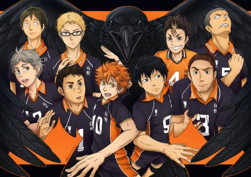 Karasuno -collab with MacGreen- by Loihtuja