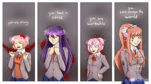 Doki Doki Motivations by SubduedMoon