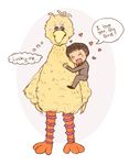 Romney loves Big Bird by Pockaru