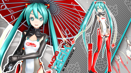 Racing Miku RSK Ver. MMD Release by Digitrevx