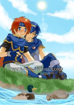 Commission - Marth and Roy by Dayu