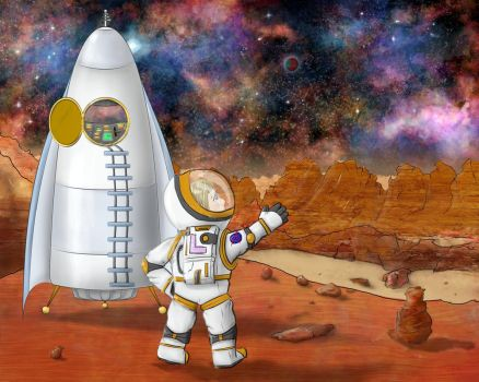 Lucy goes to Mars by Damiani