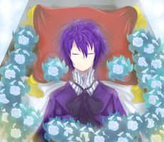 A bed of white roses by FFNaru134