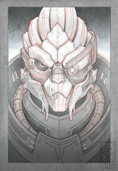Garrus Vakarian - sketch by TheTundraGhost