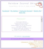 Rainbow Journal Skin by Cajincatcher