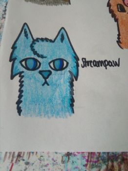 Streampaw (honorary owner to my sister) by Blue-frost-warrior