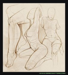 Page from figure drawing session by Dakmatters