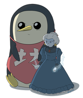 Yubaba and Baby by Deighvid