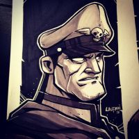 Inktober Day 27: M. Bison by DerekLaufman