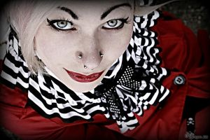 lady in red 1 by dragona666