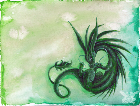 Green Dragon by Penny-Dragon