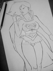Supergirl by vicmancarball