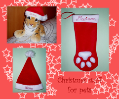 Christmas Stuff for pet, Commision by Ishtar-Creations