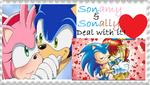 Sonally and Sonamy stamp by Sonicsallywolfsdog