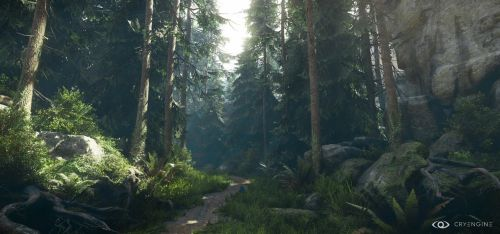 CryEngineV - Lighting and forest study 5 by MadMaximus83
