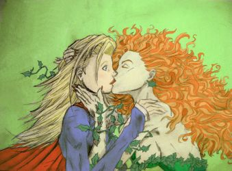 Supergirl And Ivy Kiss By Bloody Passion On Deviantart
